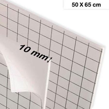 Carton mousse adhésif - 10 mm - 50 x 65 cm