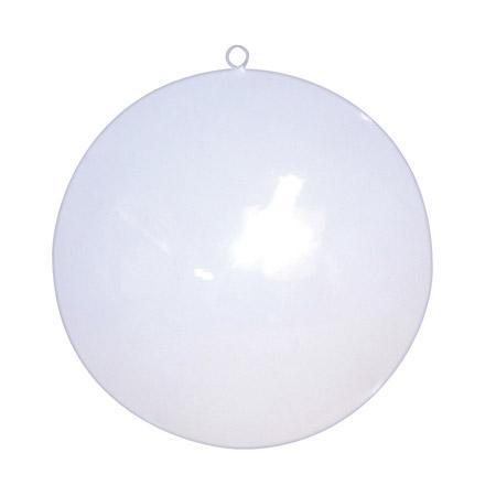 Support à décorer en métal - Rond blanc - 15 x 2,5 cm