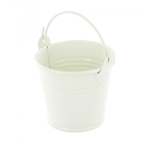 Seau en zinc - blanc - 5,5 cm