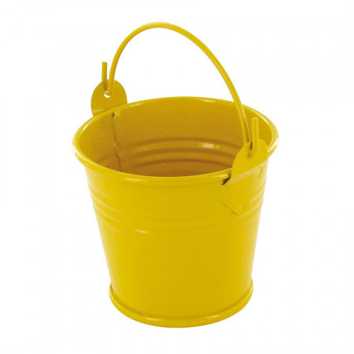 Seau en zinc - jaune - 5,5 cm