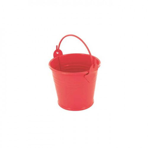 Seau en zinc - Rouge - 6,2 x 4,5 x 5,5 cm