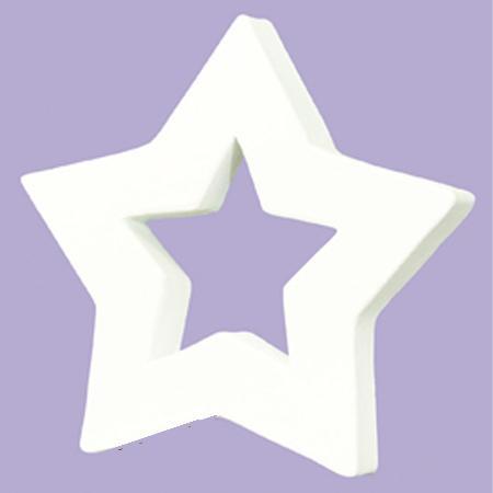 Petite étoile évidée en papier mâché  - 12 x 12 cm