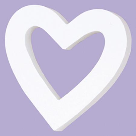 Petit cœur évidé en papier mâché - 11,5 x 11 cm