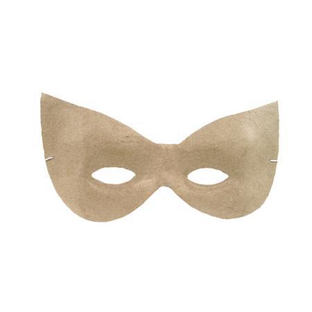 Masque forme pointue en papier mâché - 2 x 21 x 11 cm