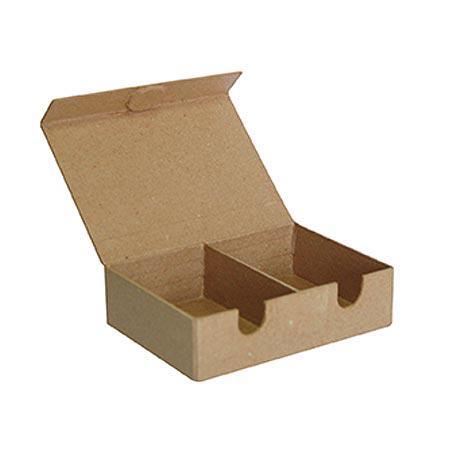Support à décorer en papier mâché - Boîte à cartes - 10,5 x 14 x 4 cm