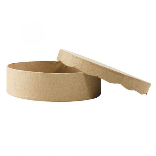 Boîte à chocolats ronde en papier mâché - 11 x 11 x 3 cm