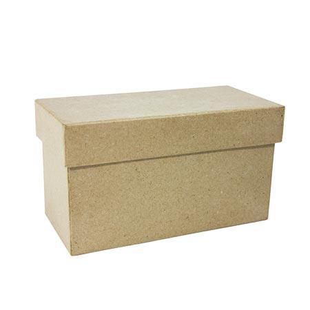 Support à décorer en papier mâché - Boîte rectangulaire - 10 x 18 x 9 cm