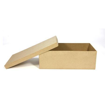 Support à décorer en papier mâché - Boîte à ballerines - 29 x 13 x 10 cm