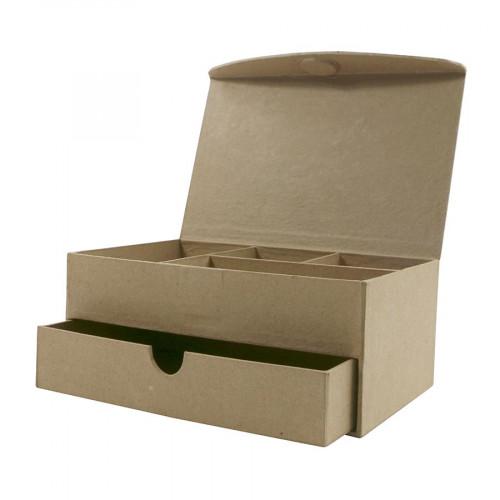 Boîte à Bijoux en papier mâché - 11 x 19 x 8 cm