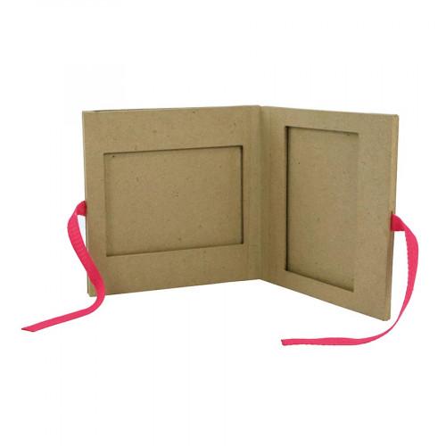 Cadre Album en papier mâché - 16 x 16 x 1 cm