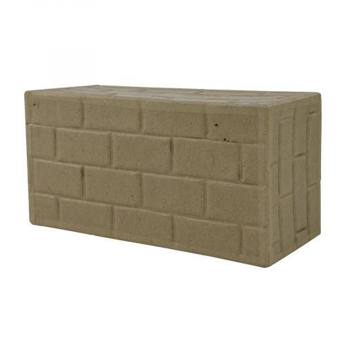 Brique embossée en papier mâché - 18 x 8 x 6 cm