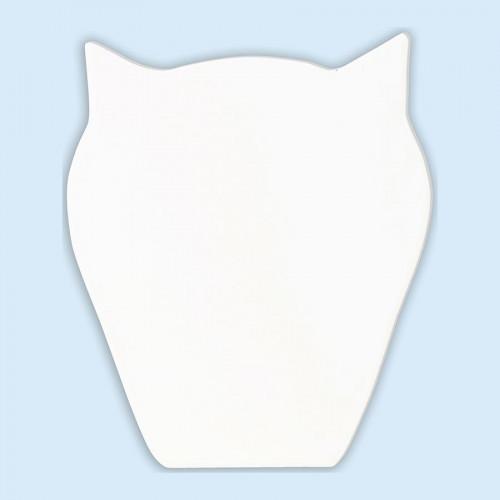 Chouette en papier mâché - 12 x 10 x 1,5 cm