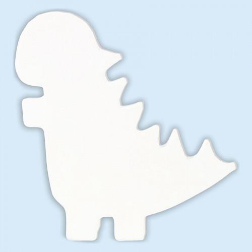 Dinosaure en papier mâché - 12 x 11 x 1,5 cm