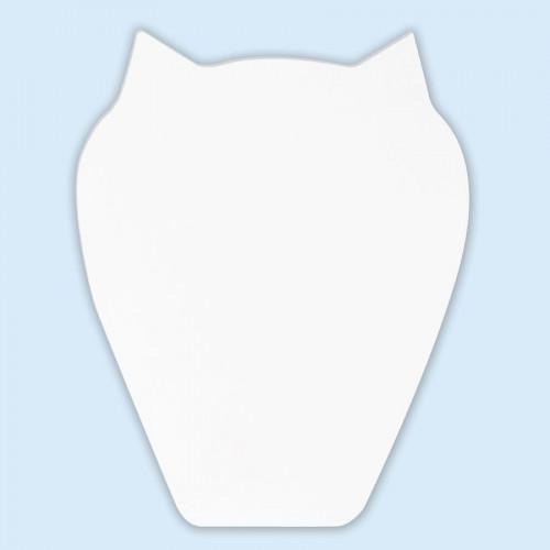 Chouette en papier mâché - 20,5 x 15,5 x 2,5 cm