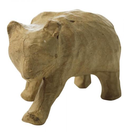 Panda en papier mâché - 7 x 9,5 x 5 cm