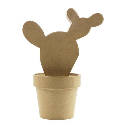 Cactus Western en papier mâché - 18 x 8 x 14 cm