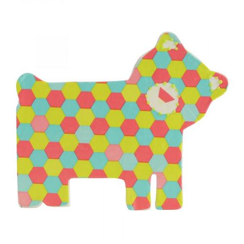 Ours en papier mâché - 10 x 12 x 1,5 cm