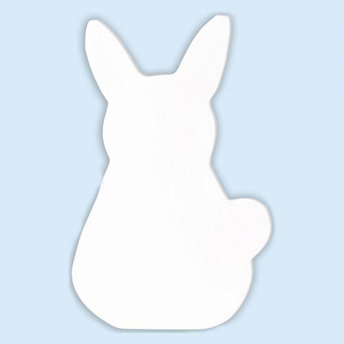 Lapin en papier mâché - 12 x 8 x 1,5 cm