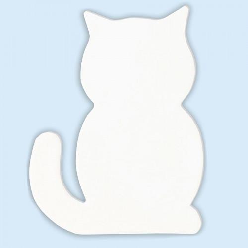 Chat en papier mâché - 12 x 9,5 x 1,5 cm