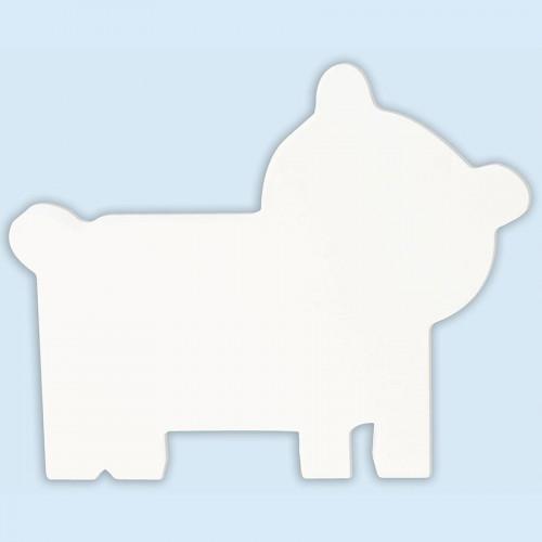 Ours en papier mâché - 16,5 x 20,5 x 2,5 cm