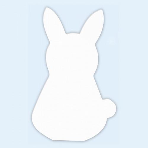 Lapin en papier mâché - 20,5 x 13,5 x 2,5 cm