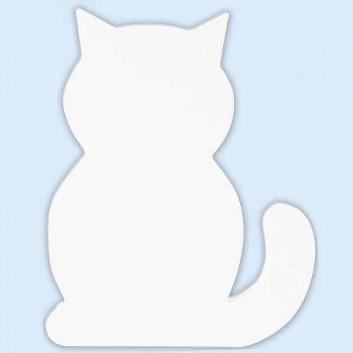 Chat en papier mâché - 20,5 x 17 x 2,5 cm