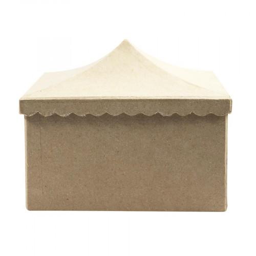 Boite Chapiteau en papier mâché - 18,5 x 15 x 13,5 cm