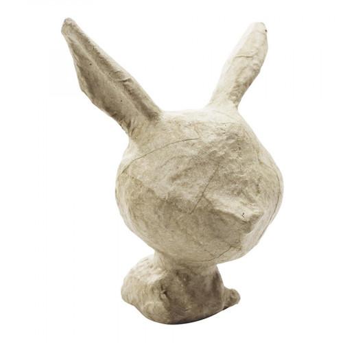 Mini lapin en papier mâché - 6 x 7 x 8 cm
