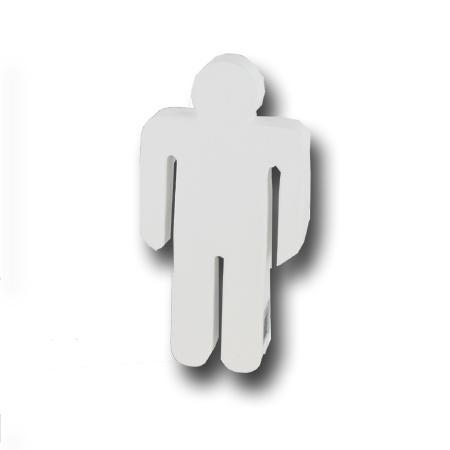 Support à décorer en papier mâché - Silhouette homme - 21 x 10.5 cm