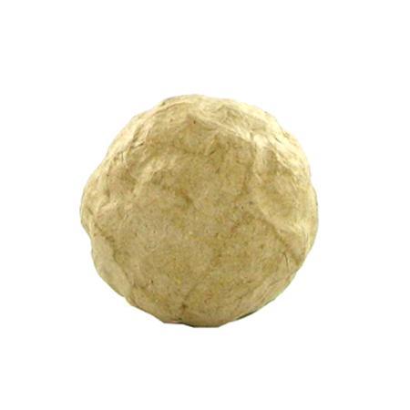 Support à décorer en papier mâché - Petit ballon de foot - 5.5 x 5.5 cm