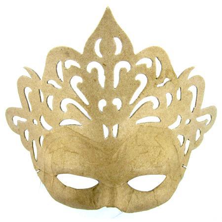 Masque princesse en papier mâché - 8 x 23 x 18 cm