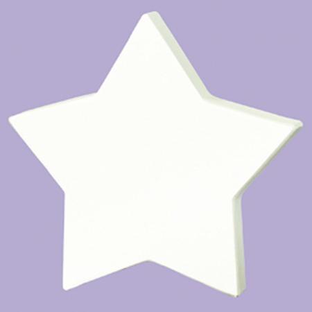 Support à décorer en papier mâché - Petite étoile pleine - 12 x 12 cm