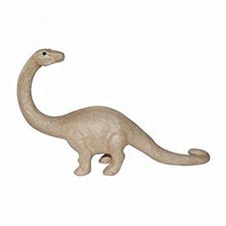 Dinosaure en papier mâché - 32 x 7 x 18 cm