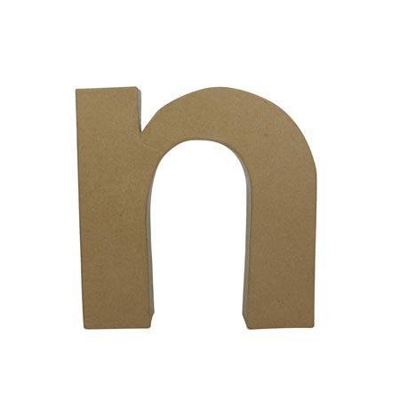 Support à décorer en papier mâché - Lettre N fantaisie