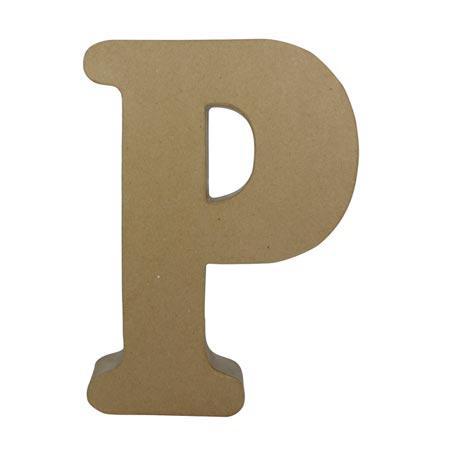Support à décorer en papier mâché - Lettre P fantaisie