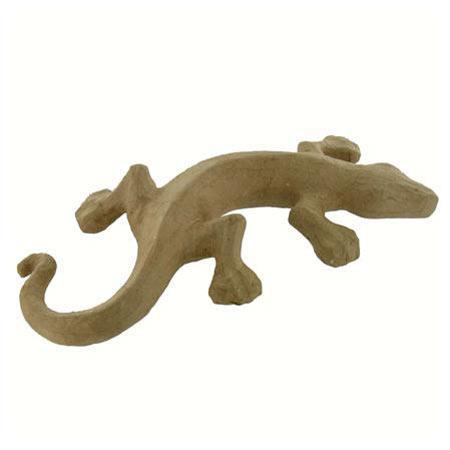 Support à décorer en papier mâché - Salamandre - 32 x 16 cm