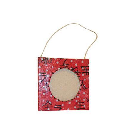 Mini cadre carré en papier-mâché - 8 x 8 cm