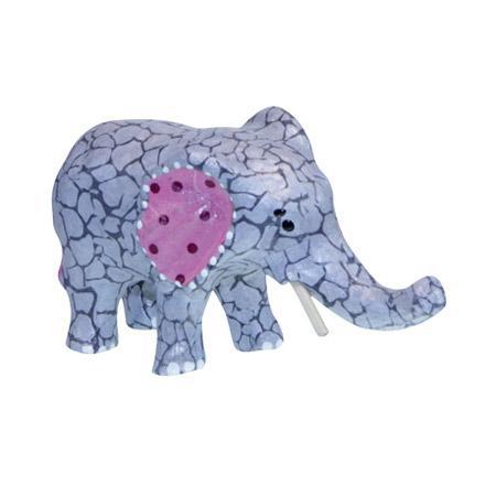 Support à décorer en papier mâché - Elephant - 12 x 6 cm