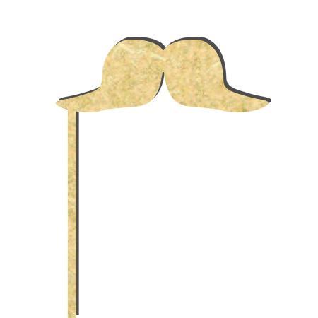 Sujet en bois médium - Photobooth Grosse moustache  - 19.5 x 7 cm