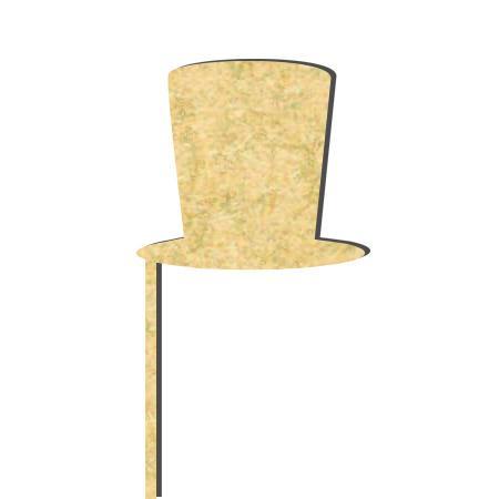 Sujet en bois médium - Photobooth Chapeau haut-de-forme - 24.5 x 8 cm