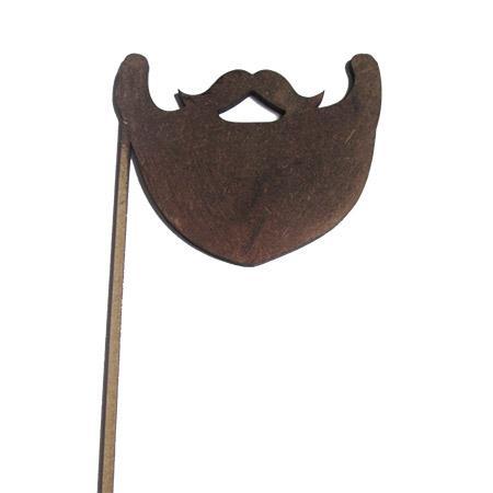 Sujet en bois médium - Photobooth Barbe moustache - 12,3 x 20 cm