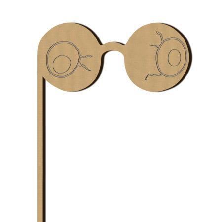 Sujet en bois médium - Photobooth Gros yeux - 12,4 x 26 cm