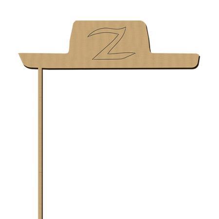 Sujet en bois médium - Photobooth Chapeau Z  - 18.7 x 22.5 cm
