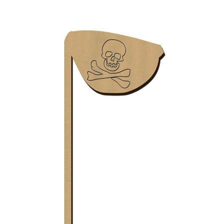 Sujet en bois médium - Photobooth Cache œil pirate - 5,8 x 23,5 cm
