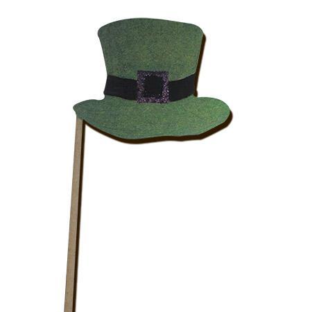 Sujet en bois médium - Photobooth Chapeau Irlandais - 11,9 x 31,5 cm