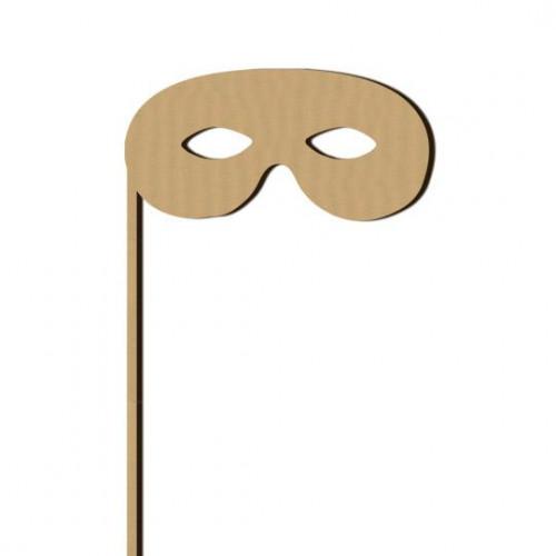 Sujet en bois médium - Photobooth Masque Z - 15,9 x 21 cm