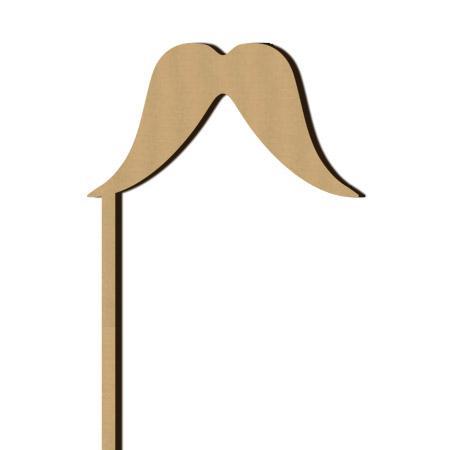 Sujet en bois médium - Photobooth Moustache mexicaine - 8,4 x 26,8 cm