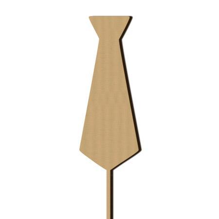 Sujet en bois médium - Photobooth Cravate - 6,3 x 25 cm