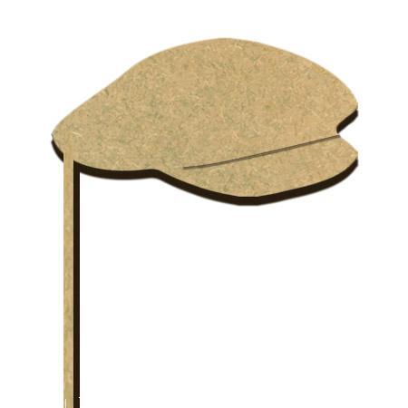 Sujet en bois médium - Photobooth Casquette - 12,7 x 27,7 cm