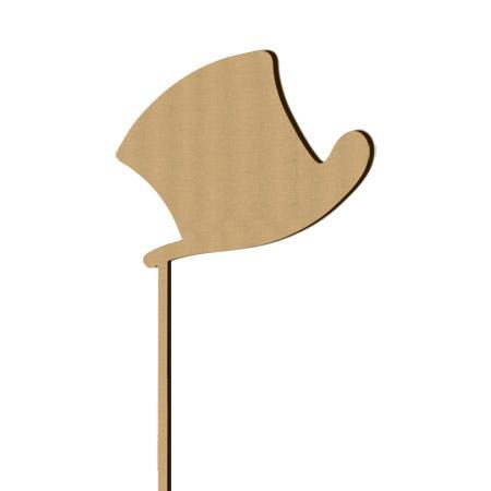 Sujet en bois médium - Photobooth Chapeau marié - 30 x 15 cm